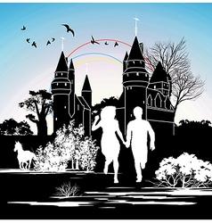 castle silhouette vector image