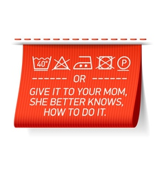 Follow washing instructions vector image