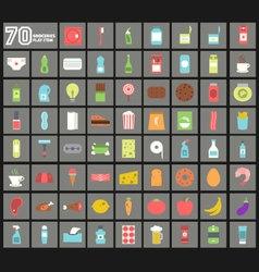 Groceries Flat Item vector image