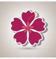 Hawaiian flower design vector