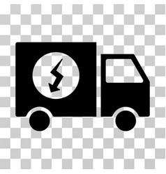 power supply van icon vector image vector image