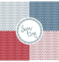 Sea time Wave background vector image