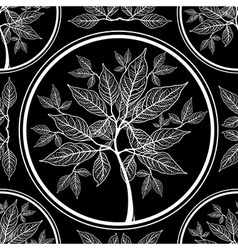 seamless tree pattern 010 vector image vector image