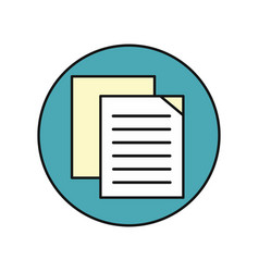 sheet paper icon vector image