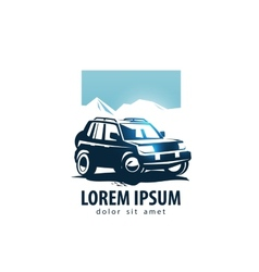 SUV logo design template car or transport vector image vector image
