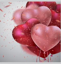 balloon hearts vector image vector image