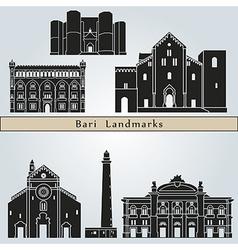 Bari landmarks and monuments vector image vector image