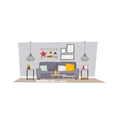 Cabin interior vector image