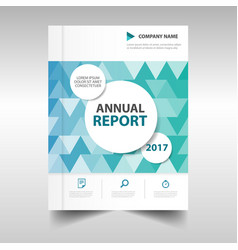 green blue triangle business annual report vector image vector image