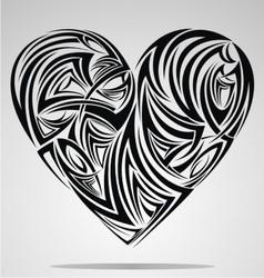 Heart Shape Tribal vector image vector image