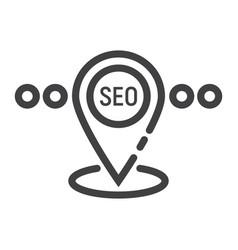 local seo line icon seo and development vector image