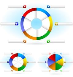 pie charts vector image vector image