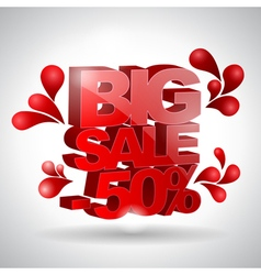 3D text Big sale vector
