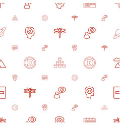 Abstract icons pattern seamless white background vector