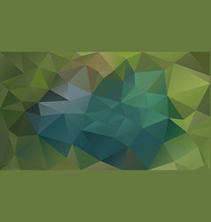 abstract irregular polygonal background green teal vector image