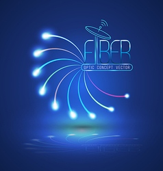 Abstract Light and line vector