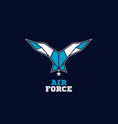 Air force wings logo sign symbol icon vector