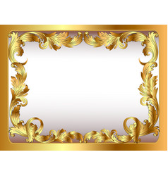 Ancient background framed gold vegetative ornament vector