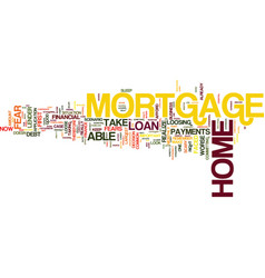 Are you ready for a home mortgage loan text vector