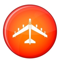 Armed fighter jet icon flat style vector