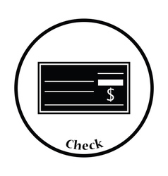 Bank check icon vector image