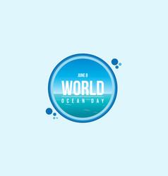 Banner style for world ocean day vector