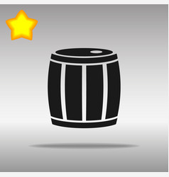 Barrel black icon button logo symbol vector