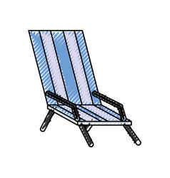 beach chair isolated vector image