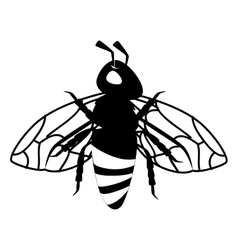 Bee animal product icon vector