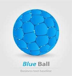 Blue ball elegant icon vector image