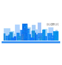 blue city landscape vector image