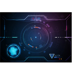 Blue pink futuristic game interface technology vector