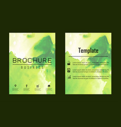 brochure layout template watercolor cover design vector image