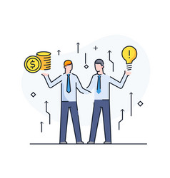 businessmen shake hands with each other virtual vector image