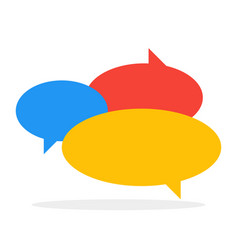 chat icon color speech bubbles in conversation vector image