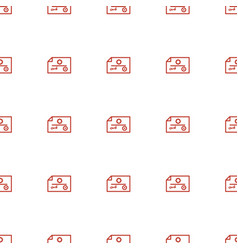 Check icon pattern seamless white background vector