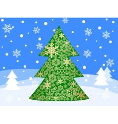 christmas tree 5 vector image vector image