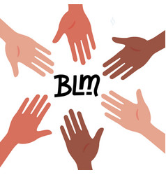 circle hands diverse unity togetherness black vector image