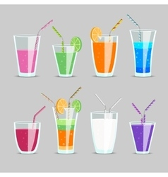Cocktail and fruit juice drinks vector image