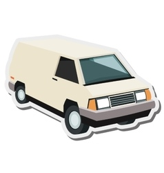 Commercial van icon vector