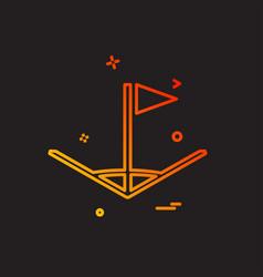 corner icon design vector image