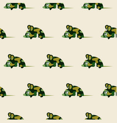 Cute camo mice design seamless pattern vector