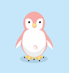 cute penguin pink vector image