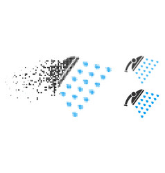 disintegrating dotted halftone shower icon vector image