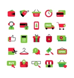 E-Commerce And Shopping Icons Set vector