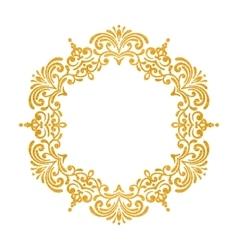 Elegant luxury vintage round gold floral frame vector