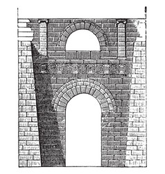 Etruscan arch at perugia etruscan buildings vector