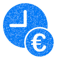 euro recurring payments grunge icon vector image