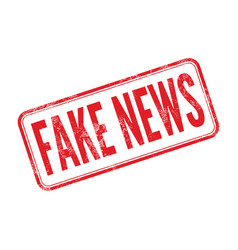 Fake news red rubber stamp isolated vector