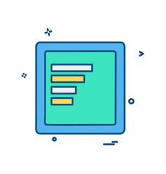 files icon design vector image